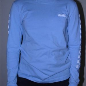 Blue long sleeve Vans shirt